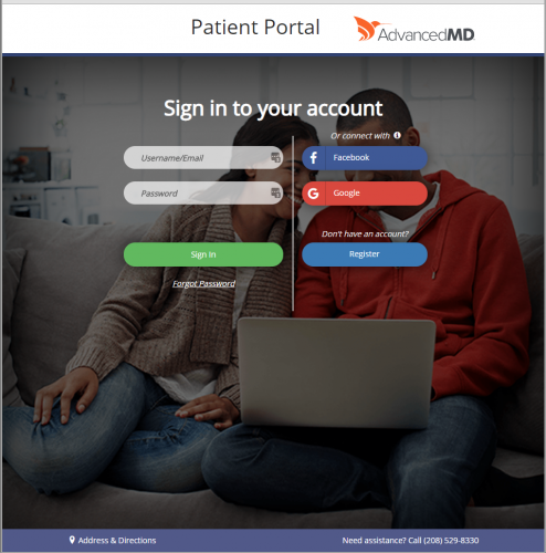 Click to register with our patient billing portal